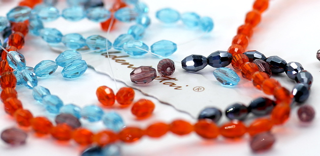 Crystal Oval Beads