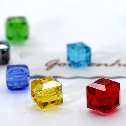 Crystal Cubes Beads